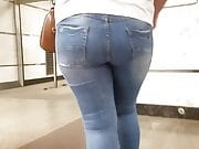 Young woman with hot big ass