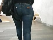 Sexy young woman with round ass