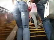 Hot slim girl's ass