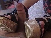 Shoejob With Wood wedge heels on hotel