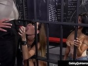 Cellmates Gabby Quinteros & Jessica Jaymes Fuck Guard!