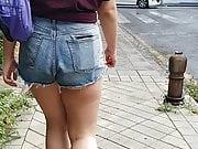 Candid Shorts Big Ass Slut Teen - 1
