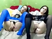 Mystery of two chicks in tights