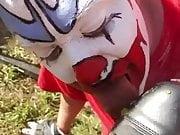 Clown Worshiping Muddy Boot With Hott Sauce