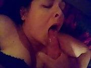 Deepthroat blowjob and facial